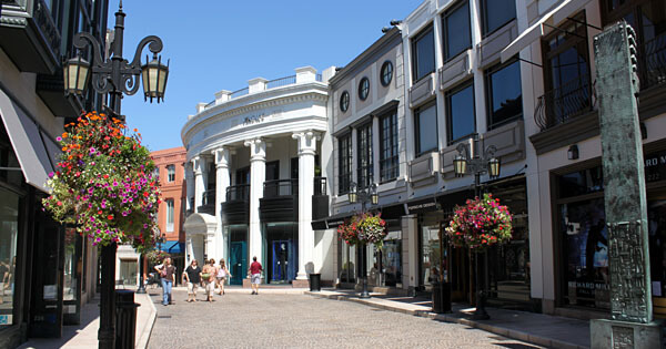 The Rodeo Drive shops