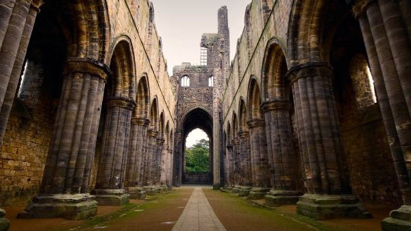 The Kirkstall Abbey in Leeds