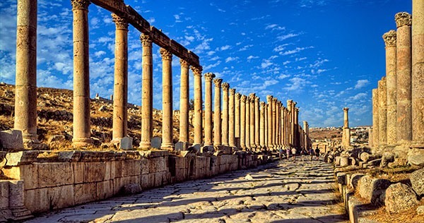The Cardo Maximus in Jerash, Jordan