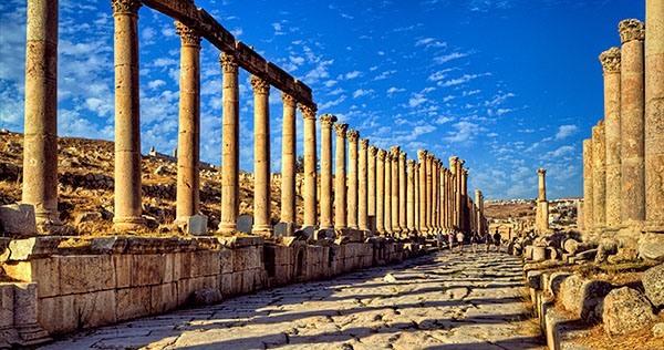 The Cardo Maximus in Jerash, Jordan
