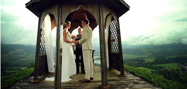 Wedding on a volcano
