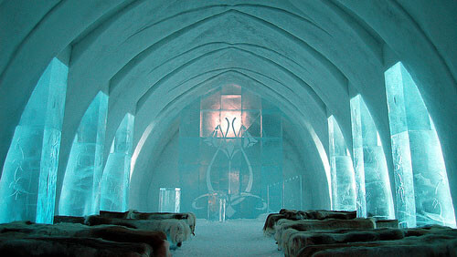 Wedding in the ice hotel, Sweden