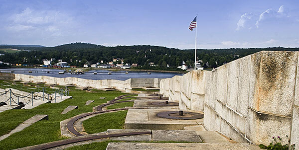 The ramparts of Fort Knox, MA