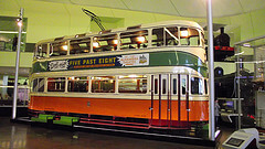 Old Glasgow tram car