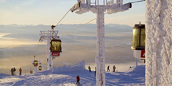 Skiing in Areskutan, Sweden