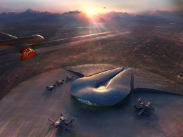 The Virgin Galactic base at Spaceport America