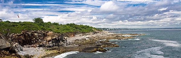 The coastland in Portland, Maine
