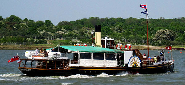 The paddle steamer Kingswear Castle