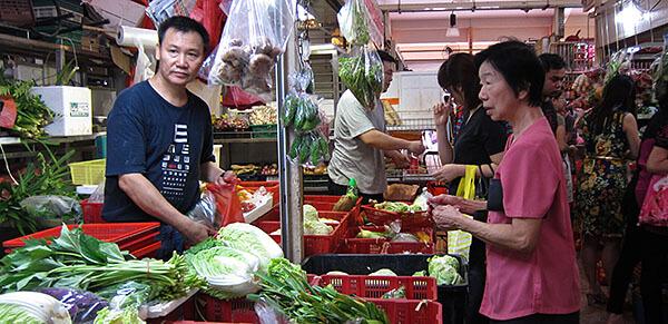 The Kreta Ayer Wet Market in Singapore's Chinatown