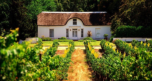 A cottage at the Stellenbosch wine estate in South Africa