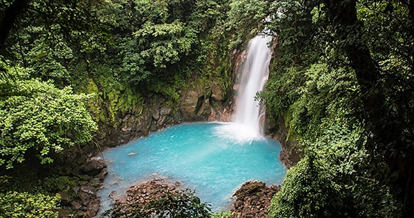 Waterfall in the Tenorio Volcano National Park, Costa Rica