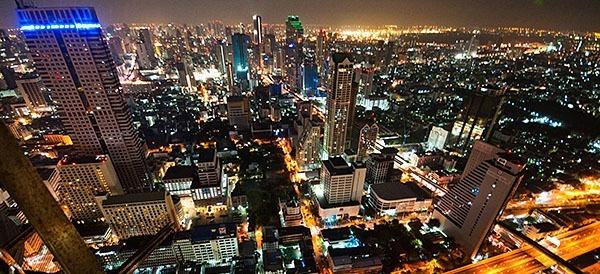 The night skyline of Bangkok