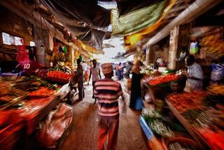 Market in Lamu, Kenya