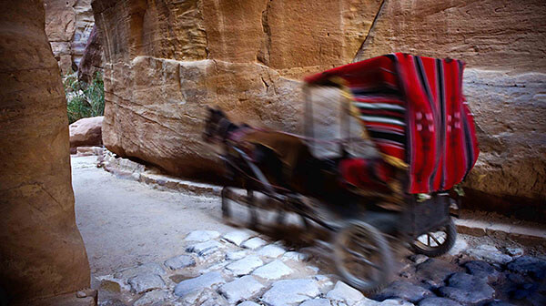Horse drawn carriage in Jordan