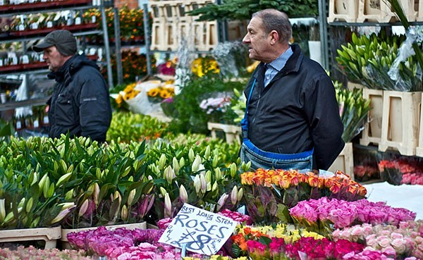 Stall on the Columbia Road Flower Market in London