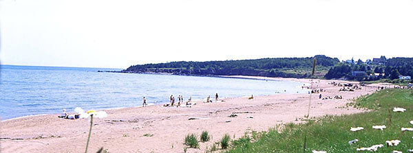Beach at Par du Bourg de Pabos in Canada