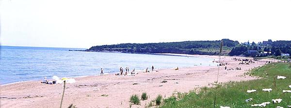 Beach at Par du Bourg de Pabos in Canada