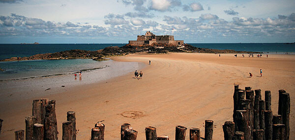 Beach in St Malo, France