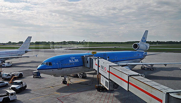 KLM plane at skygate