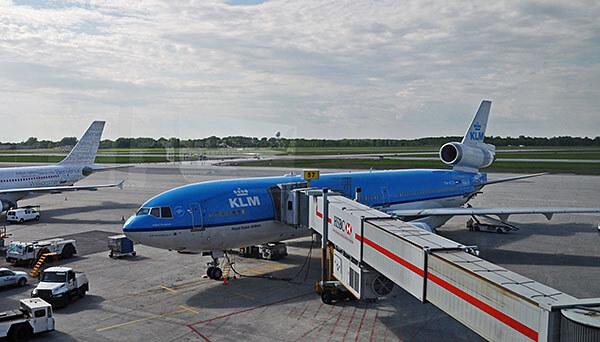 KLM plane at skygate