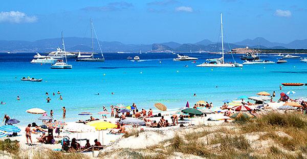 Playa de ses Illetes in Formentera