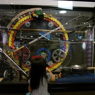 Interactive exhibit at Reuben H. Fleet Science Center
