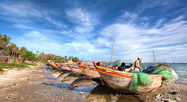 Fishermen in Mui Ne, Vietnam