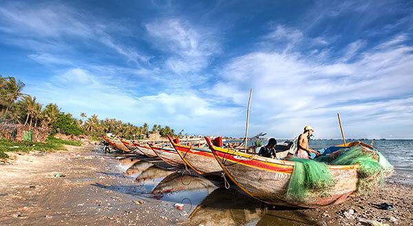 Fishermen in Mui Ne, Vietnam