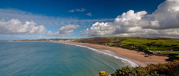 View over Woolacombe Bay, Devon