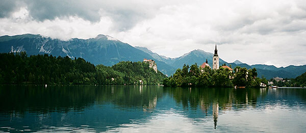 Lake Bled with the Church, Slovenia