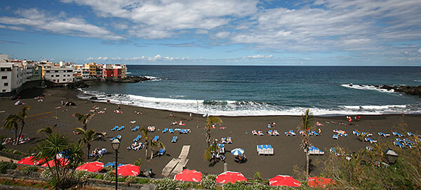 A black sand beach in Tenerife