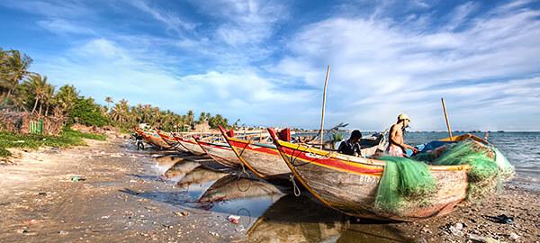Fishermen on Vietnam's coast