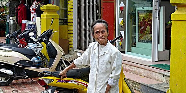 Motorcycle rental shop in Vietnam