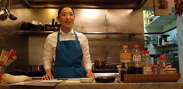 Atsuko in the kitchen