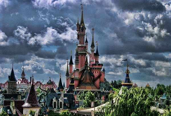 The Disney Castle at Disneyland Paris