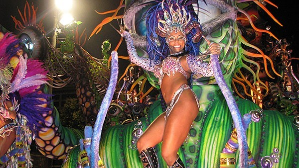 Samba dancer in Brazil