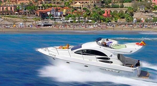 Rental boat on the sea