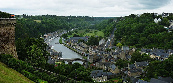 Dinan in the River Rance valley