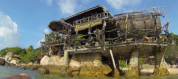 Banana Rock bar on Koh Tao