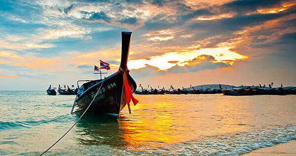 Boat on the beach in Krabi