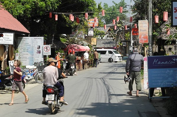 Pai town in Thailand