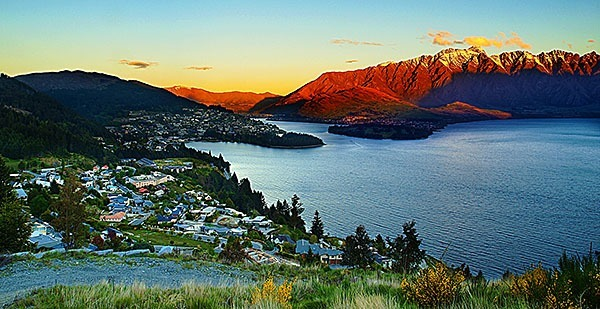 Looking over Queenstown, NZ