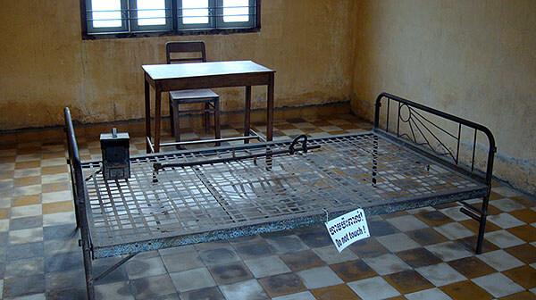 Tuol Sleng prison torture bed