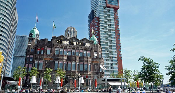 The Holland Amerika Line building in Rotterdam