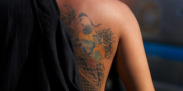 Back tattoo in Japanese style