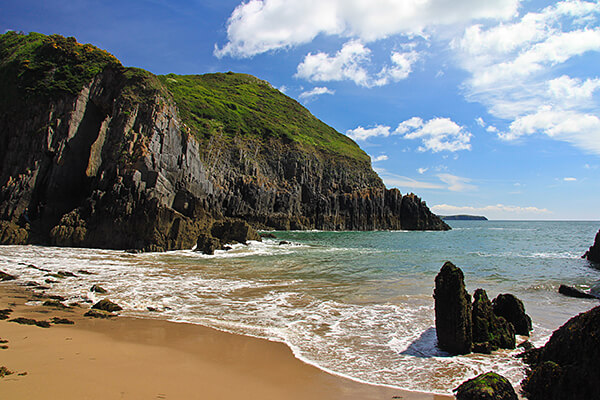 A beach in Pembrokeshire UK