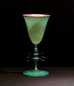 Glass goblet from Murano
