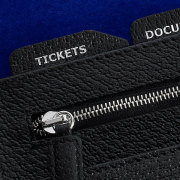 Interior detail of Kiki James travel wallet