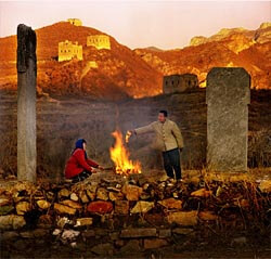 Photo by Tian Li - Villagers make sacrifices to their ancestors in China.