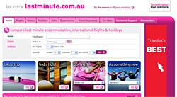 Lastminute.com.au's new site.